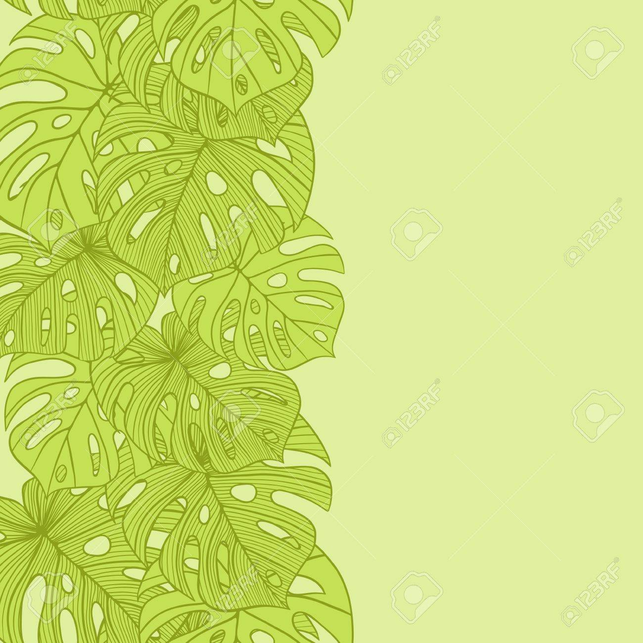 Fabric tree pattern - Vector Illustration Leaves Of Palm Tree Seamless Pattern