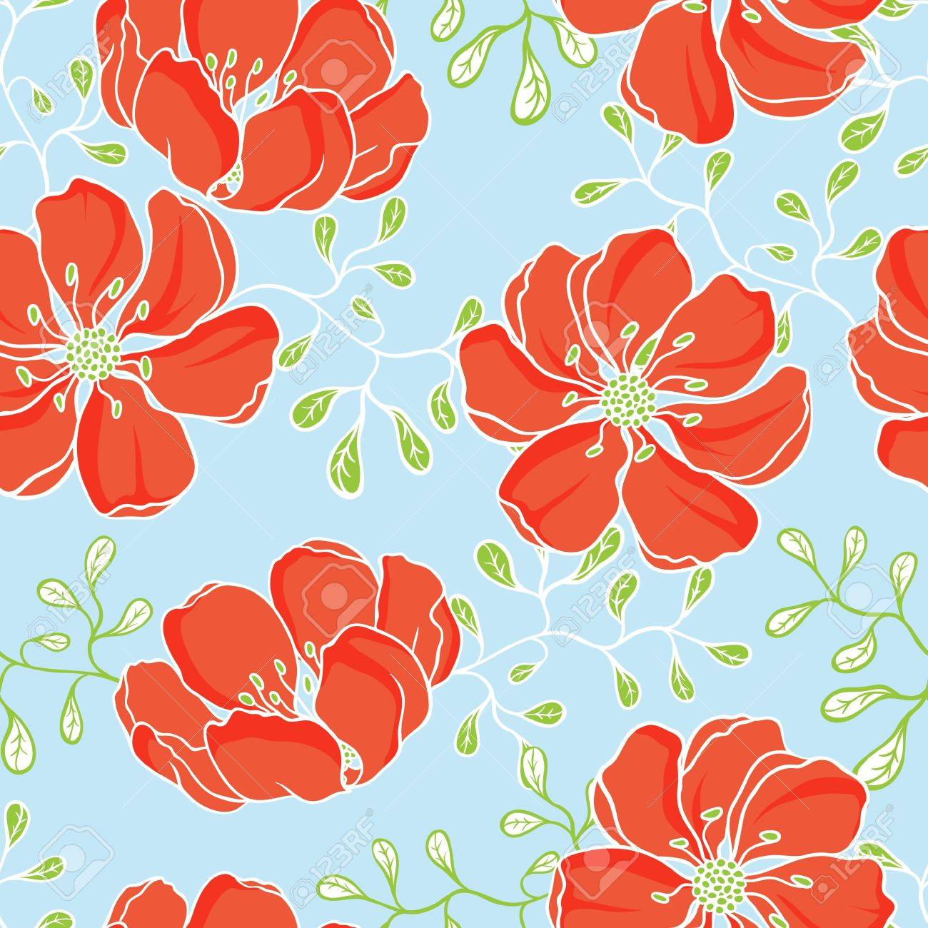 hand drawn flowers Stock Vector - 13609326