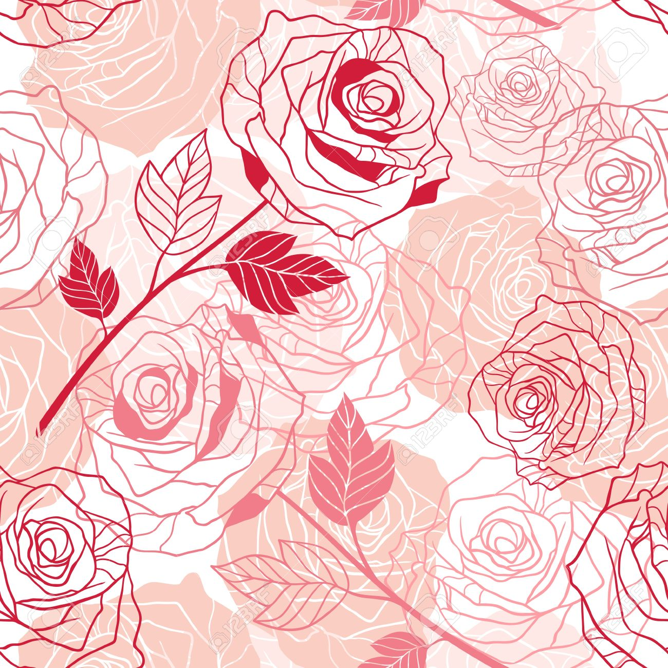 Floral background with roses seamless pattern Stock Vector - 13711578