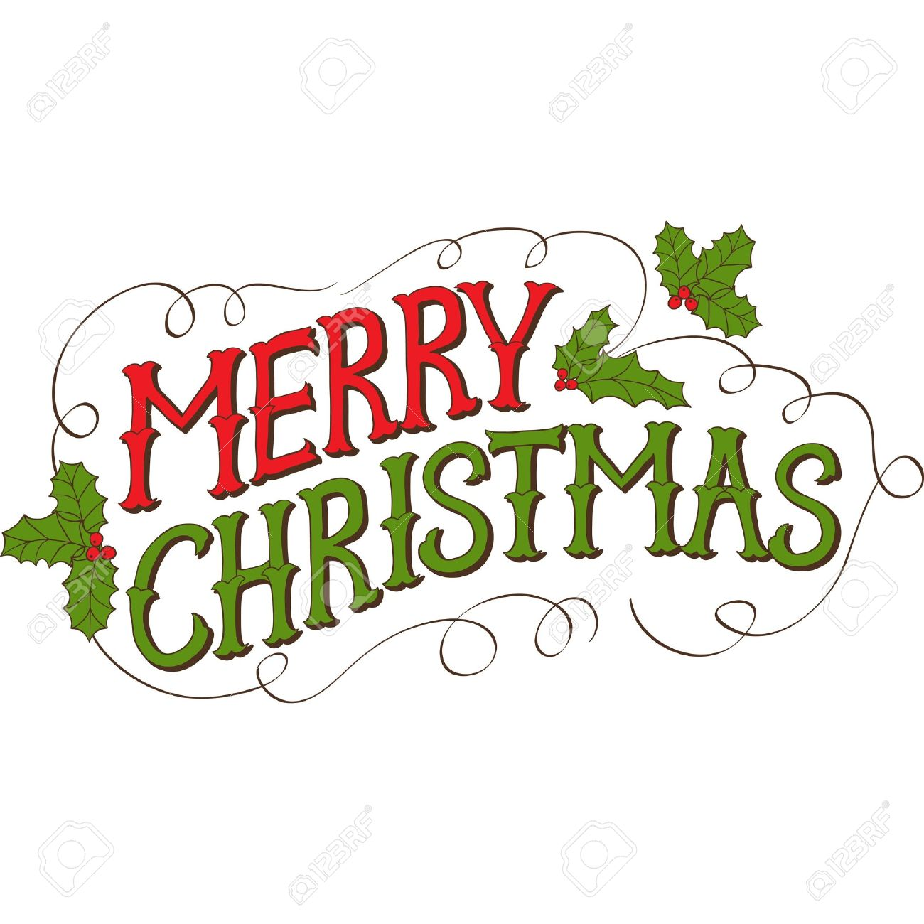 Merry Christmas Greetings Clip Art Awesome Graphic Library