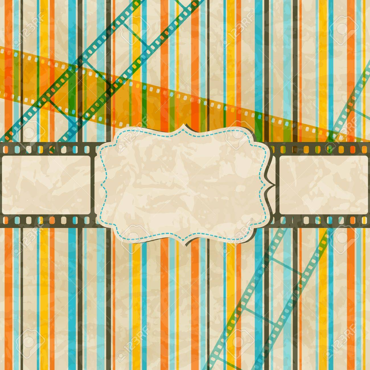 Vintage scratch background with film frame Stock Vector - 14829189