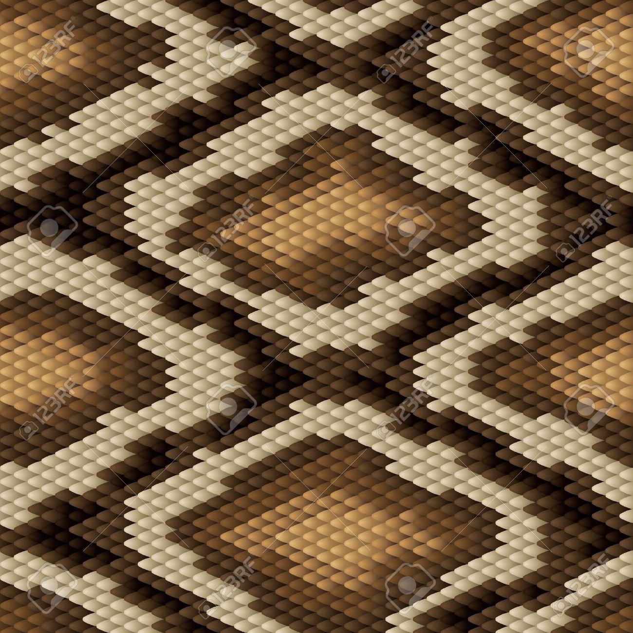 Seamless python snake skin pattern - 14829369