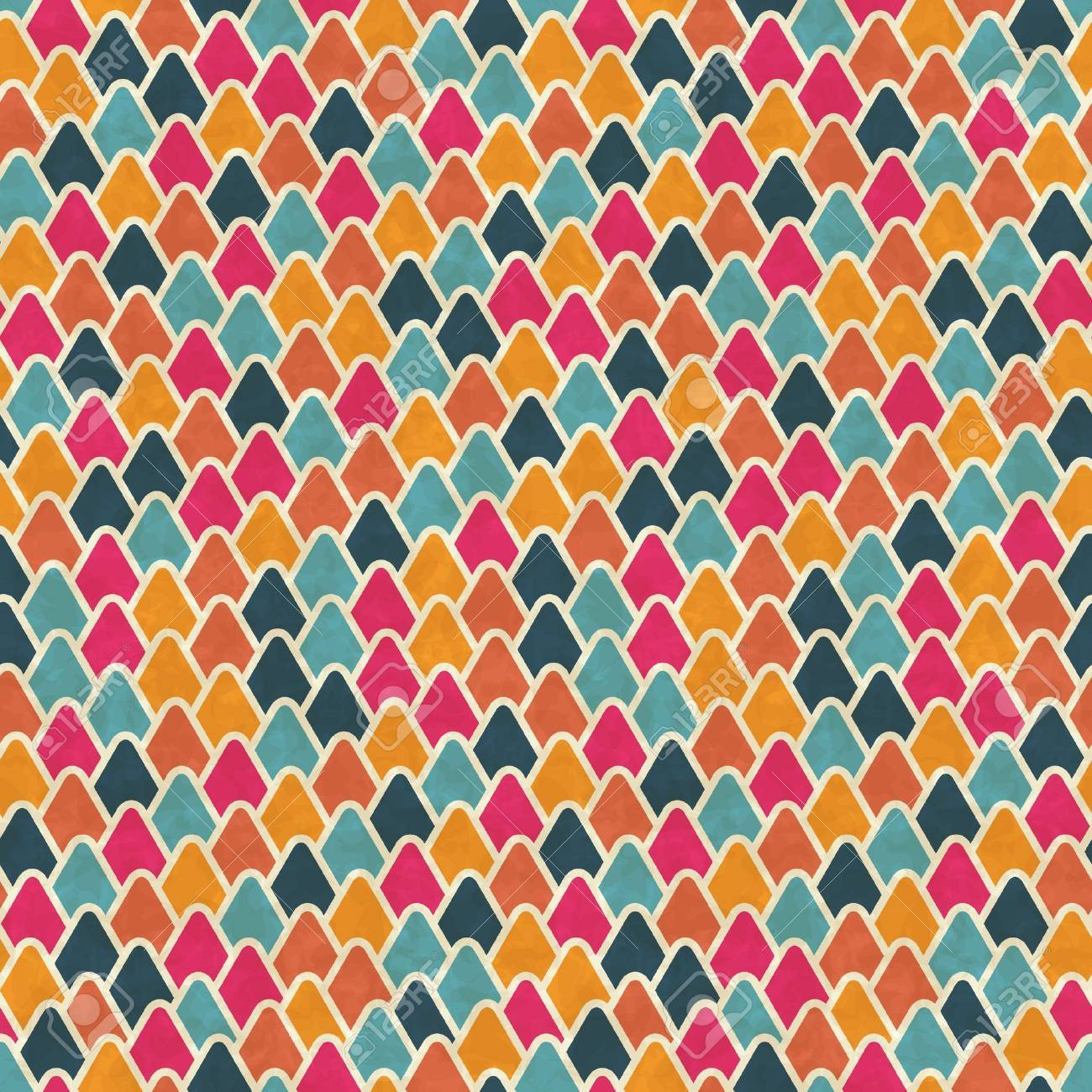 Seamless retro geometric pattern  EPS10 vector texture Stock Vector - 14920890