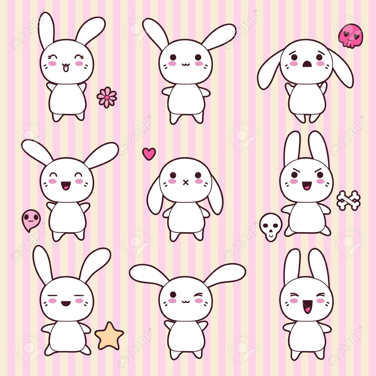 Cute Anime Rabbit Collection of funny and cute