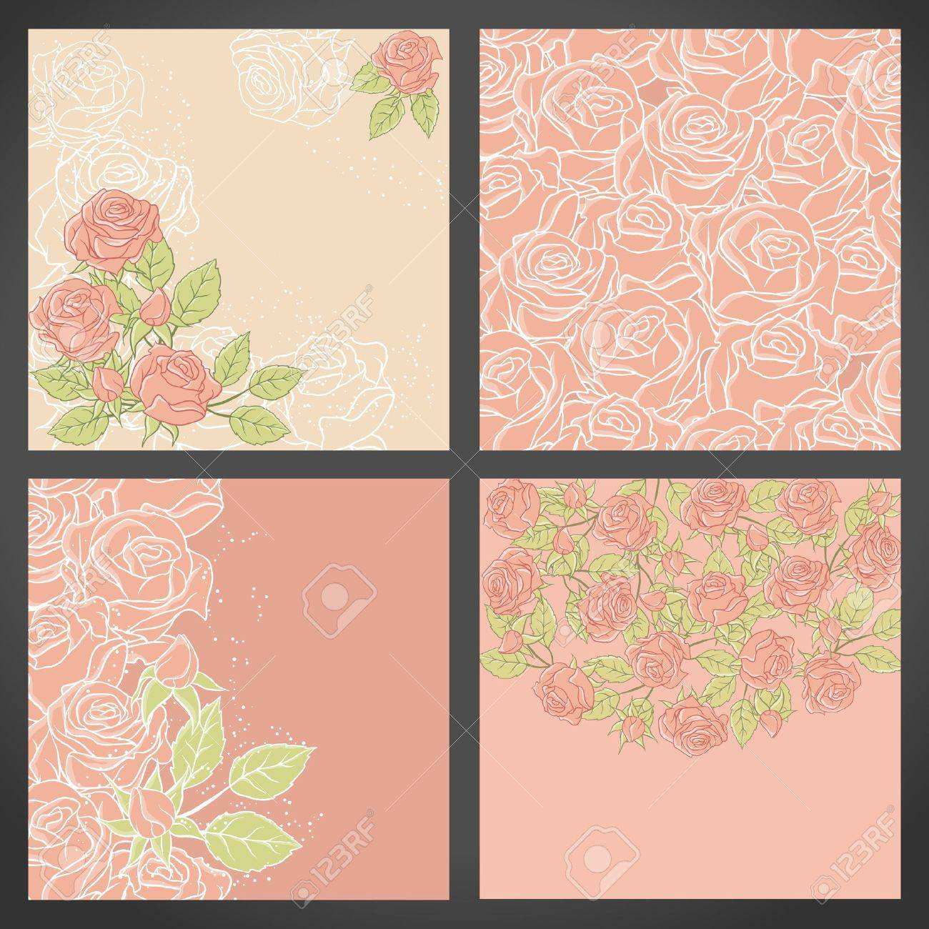 Floral background with rose in pastel tones Stock Vector - 15314939