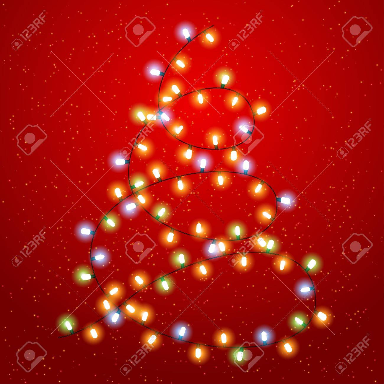 Christmas background with luminous garland Stock Vector - 15997339