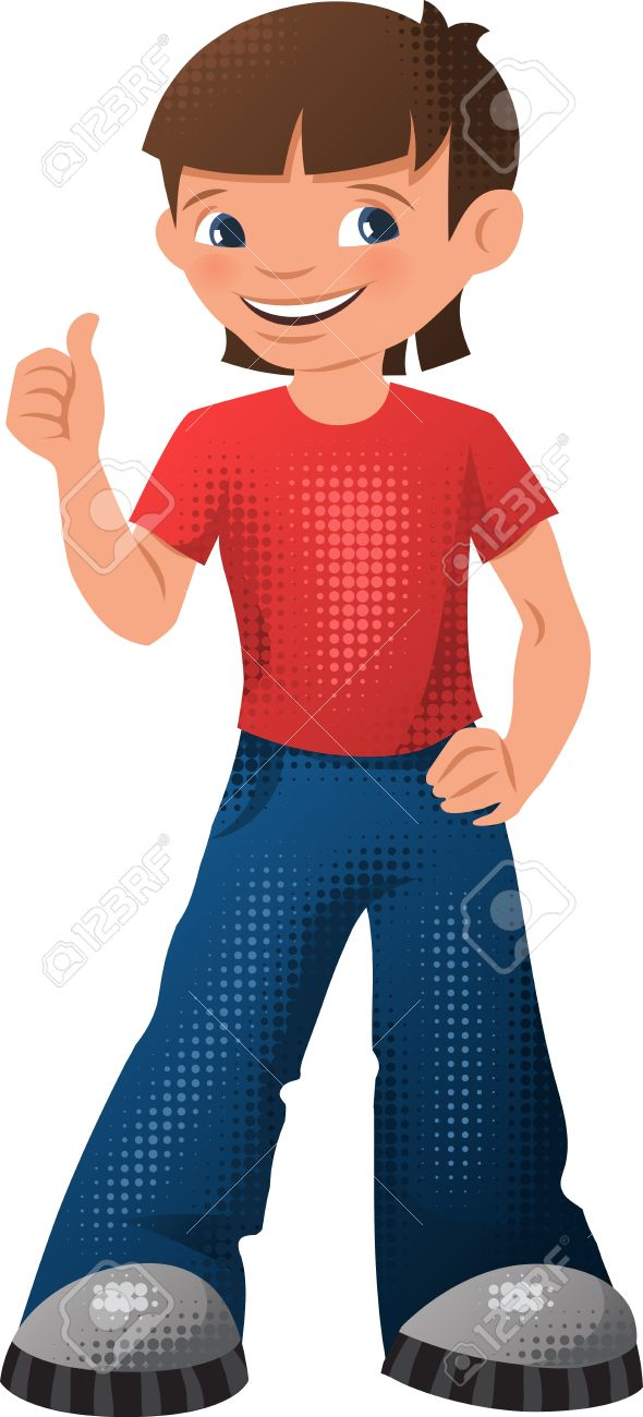 Illustration of a happy young teen boy Stock Vector - 16958882