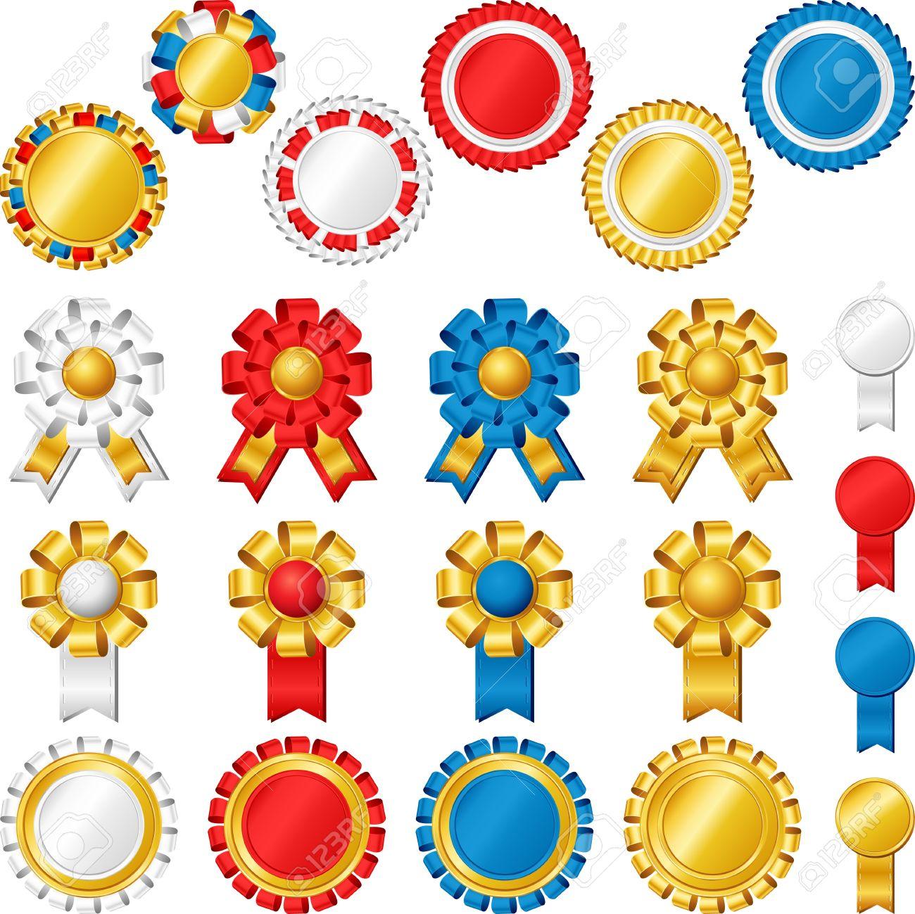 Blank award ribbon rosettes Stock Vector - 17542651