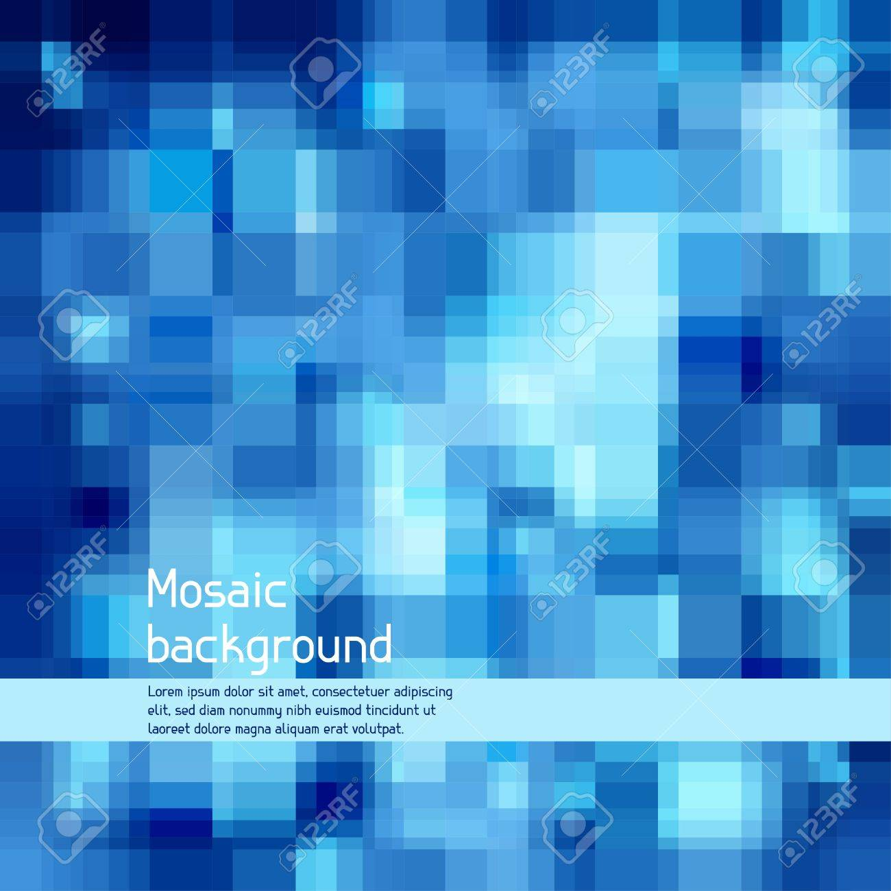 Mosaic abstract high-tech background Stock Vector - 18551082