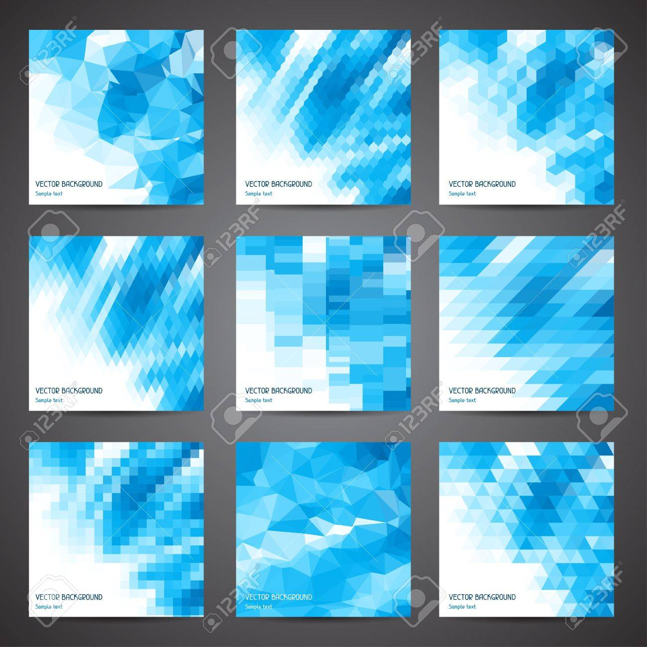 Mosaic abstract geometric backgrounds set Stock Vector - 18551083