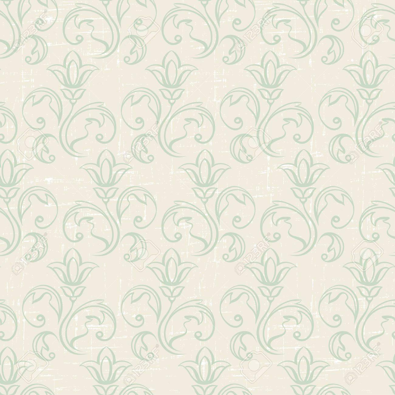 シームレスなビンテージ壁紙 花柄 レトロな壁紙のイラスト素材 ベクタ Image