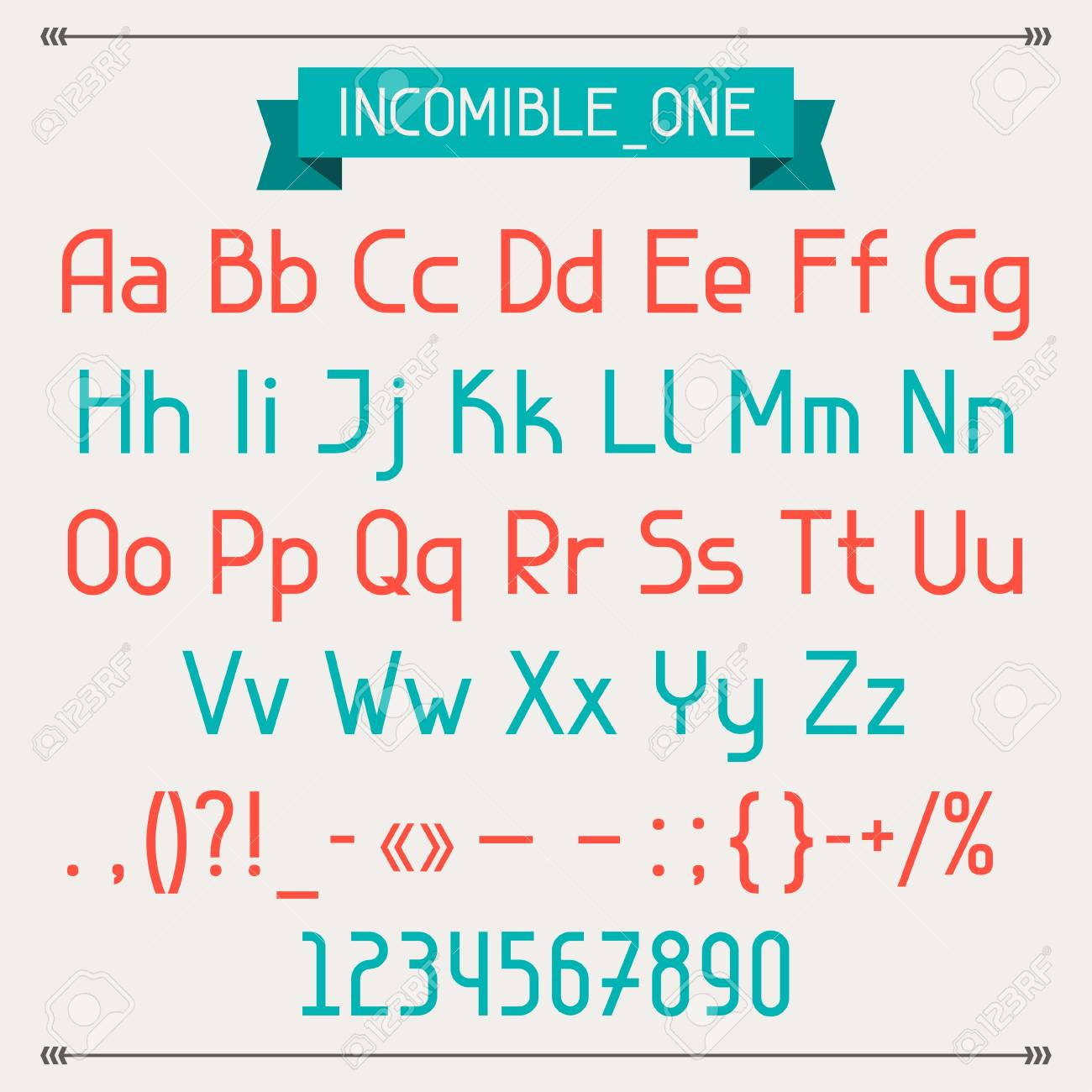 Incomible one classic style font. Stock Vector - 20481874