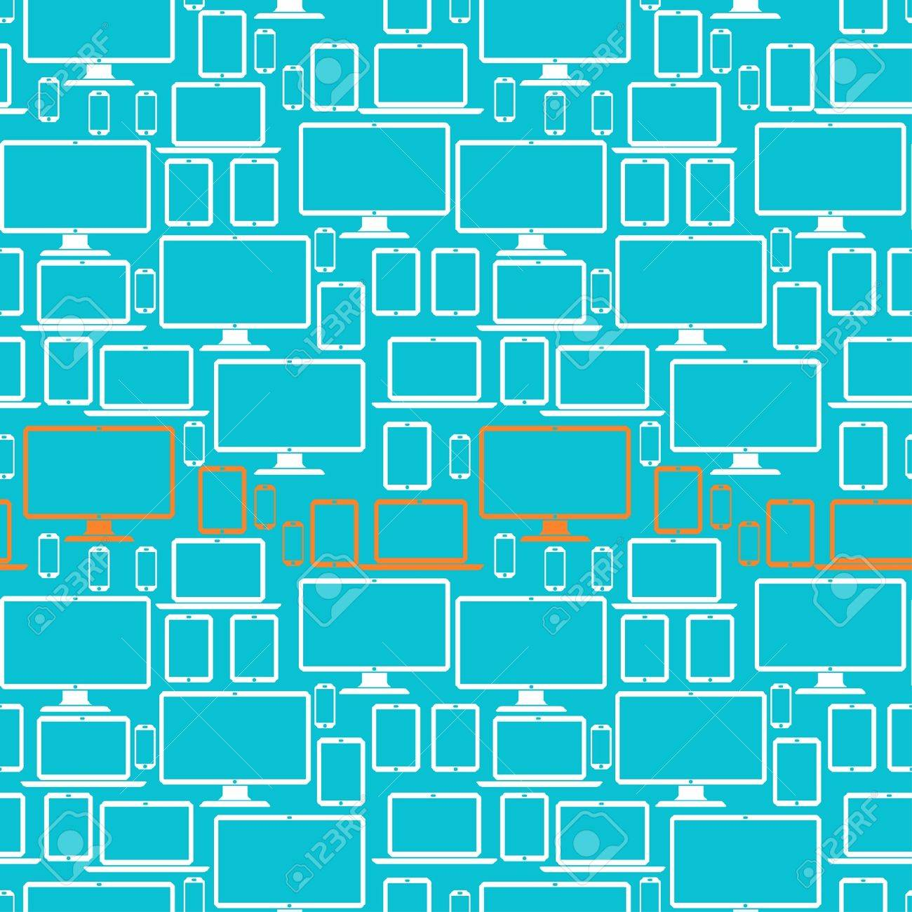 Seamless pattern with electronic devices. Stock Vector - 20693530