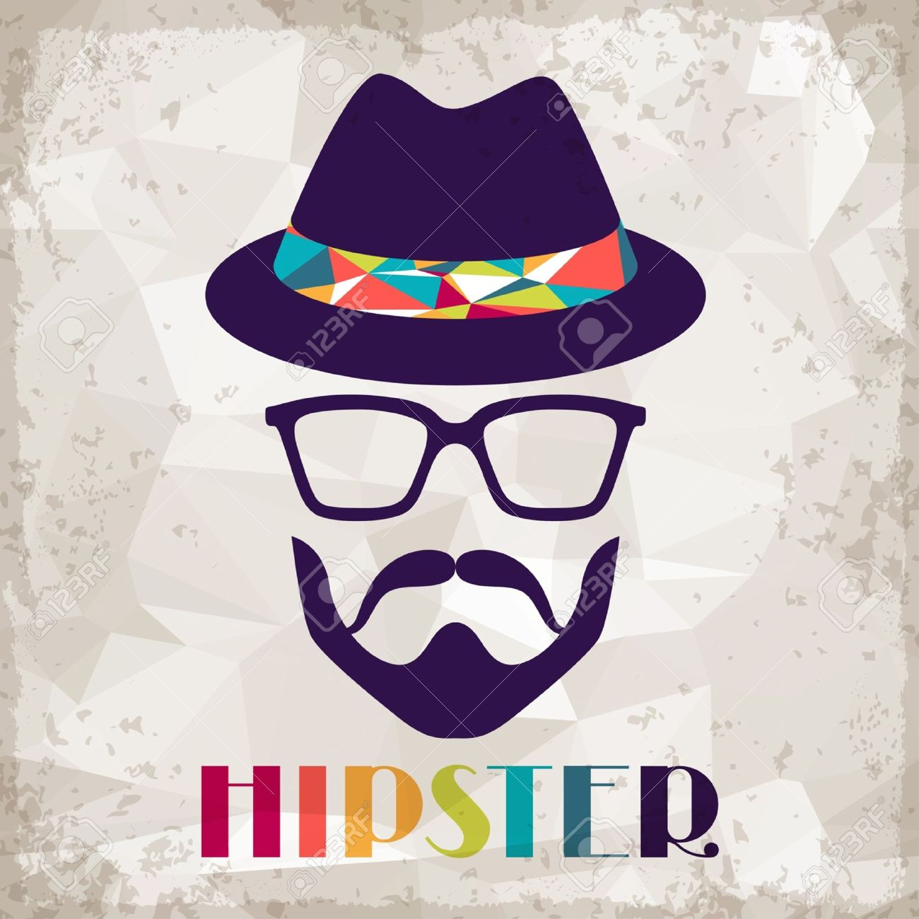 Hipster background in retro style. Stock Vector - 20913524