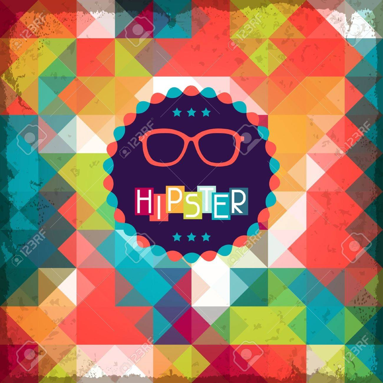 Hipster background in retro style. Stock Vector - 20913528
