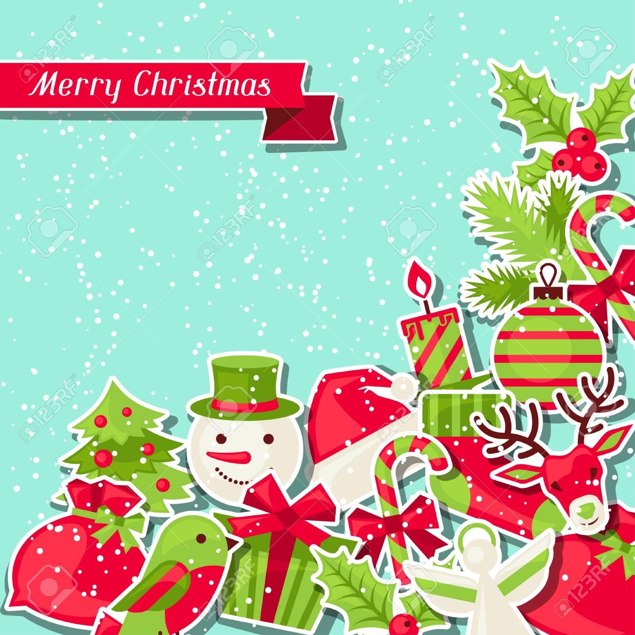 Feliz Navidad De Fondo Para La Tarjeta De Invitación