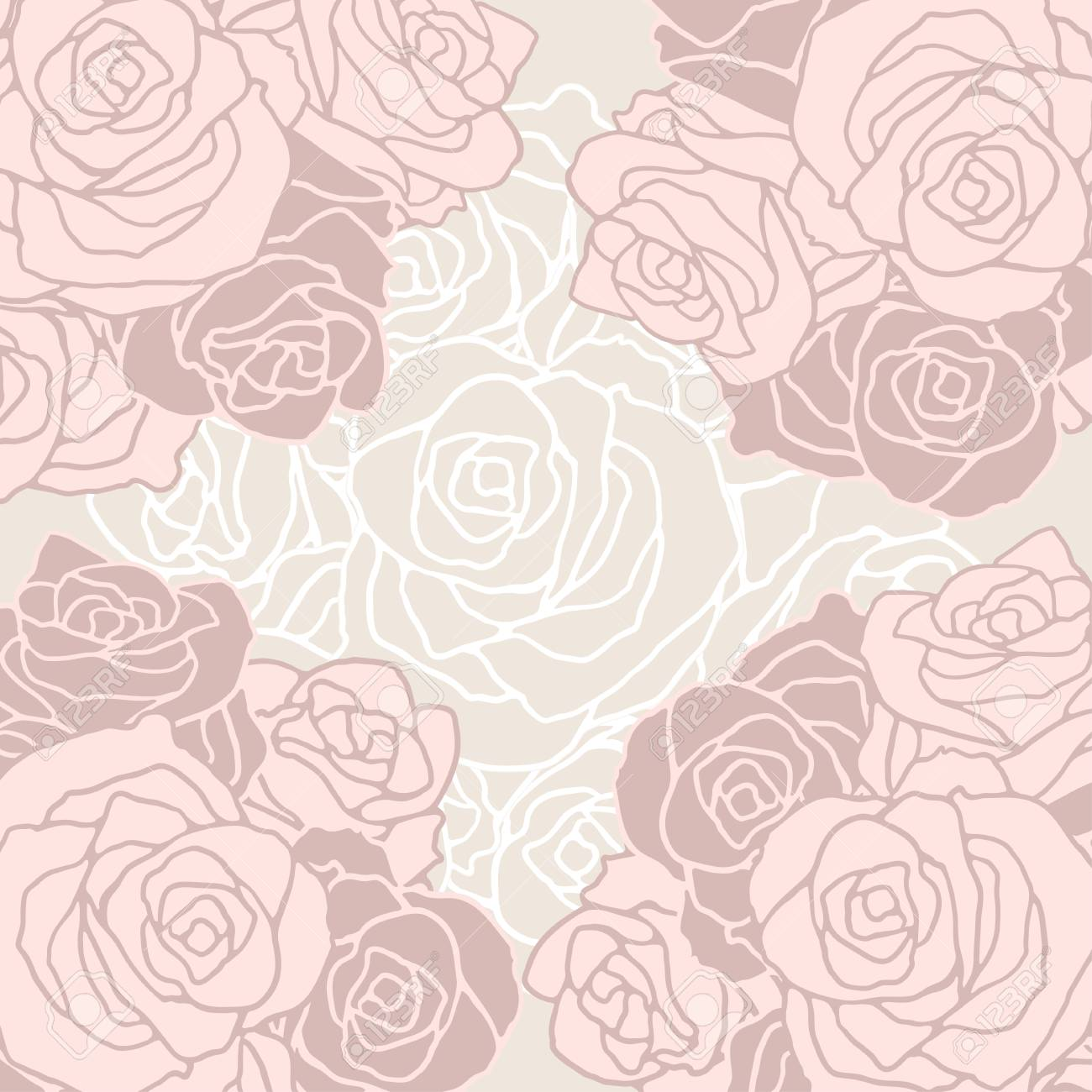 Seamless pattern with flowers roses. Stock Vector - 22380999