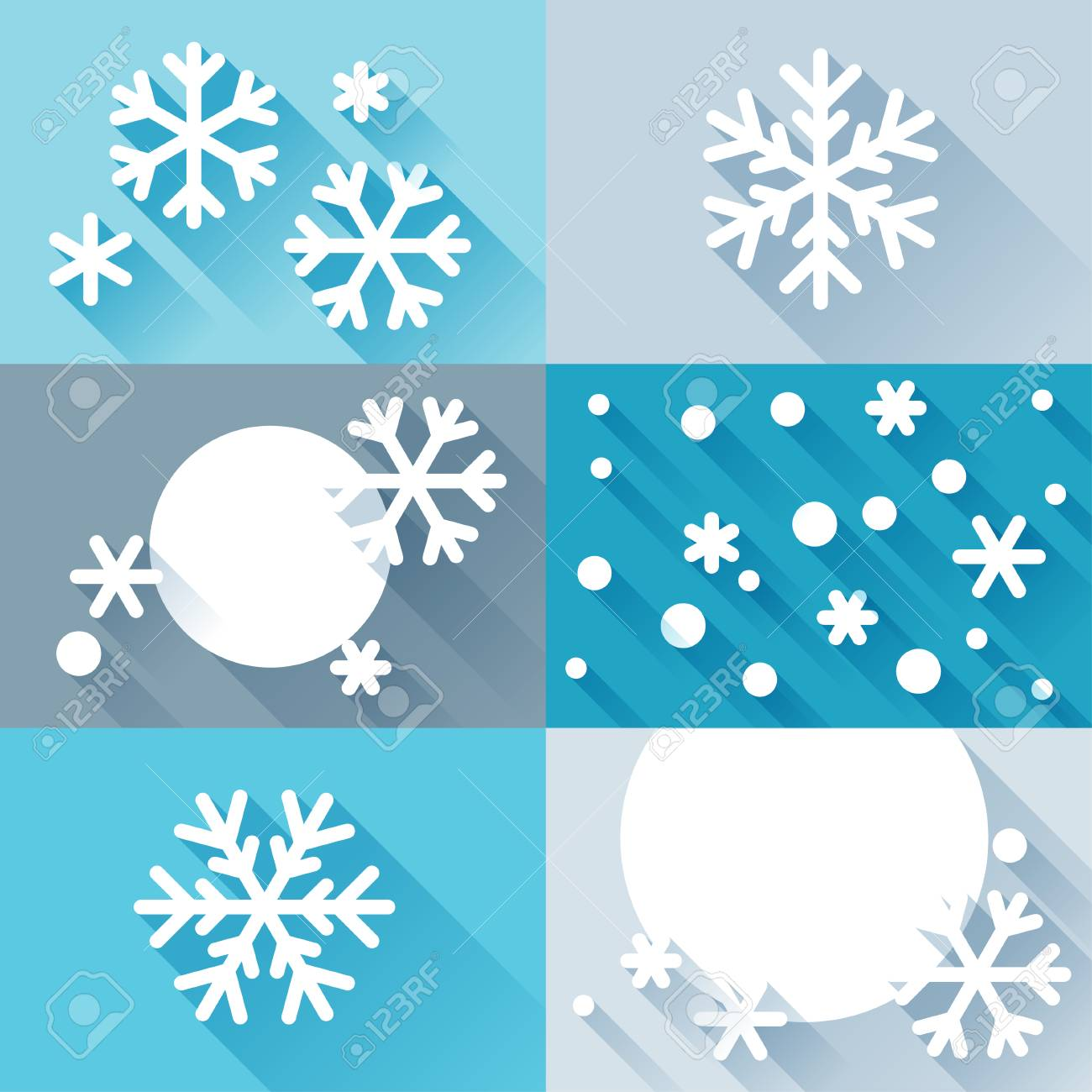 Abstract background with snowflakes in flat design style. Stock Vector - 22483825