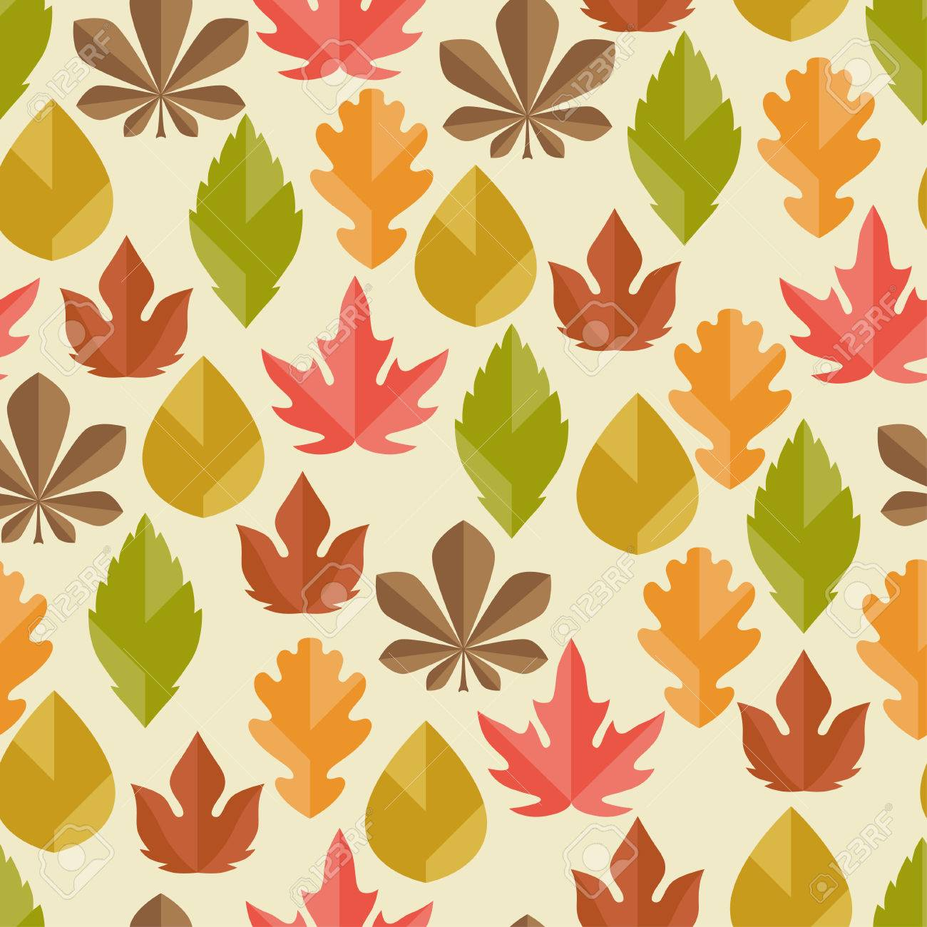 Seamless pattern with autumn leaves. Stock Vector - 22483297