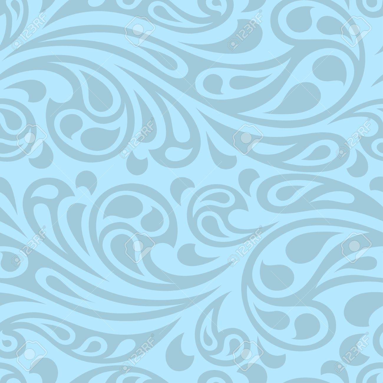 Water splash seamless waves abstract pattern. - 22599014