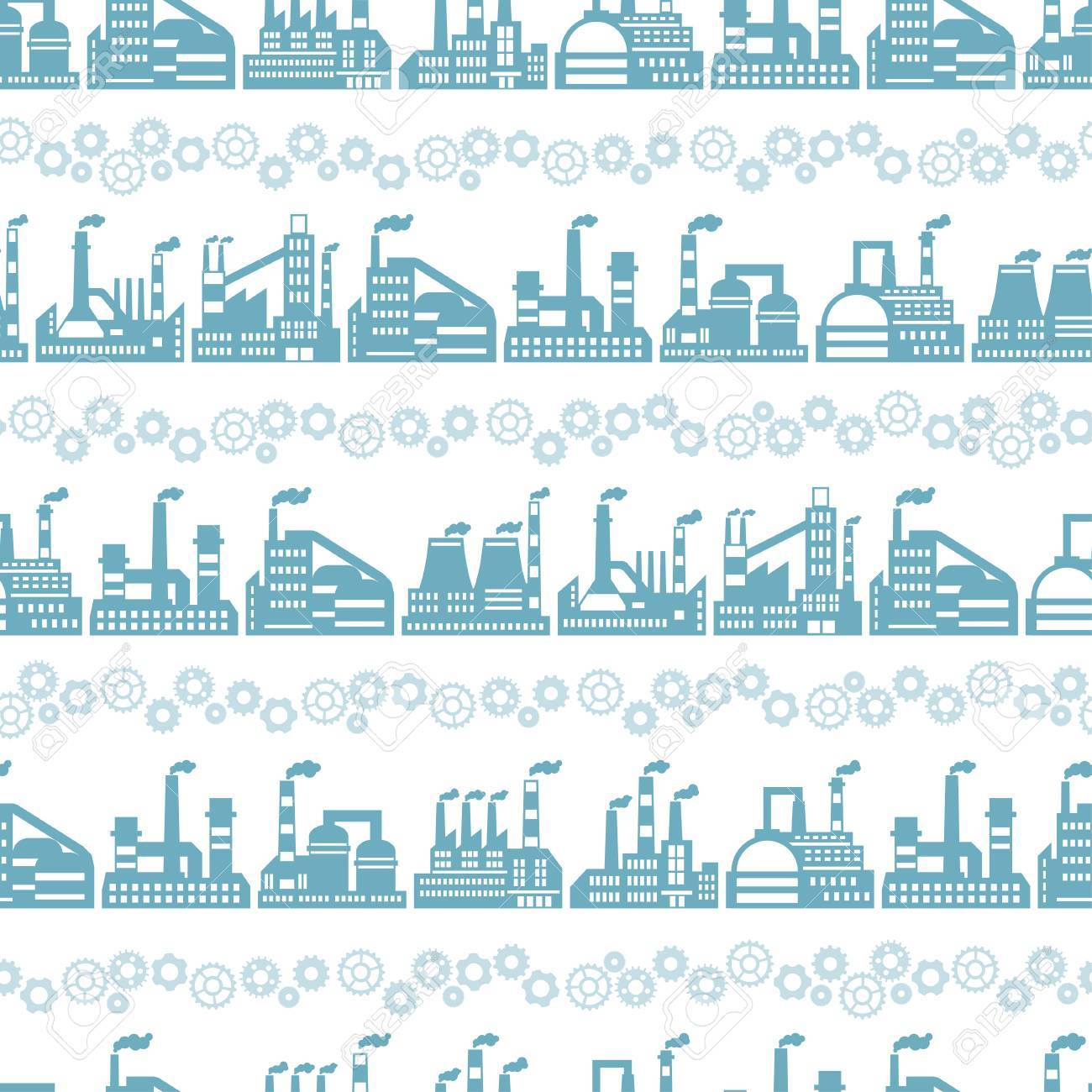 Industrial factory buildings seamless pattern. Stock Vector - 22726671