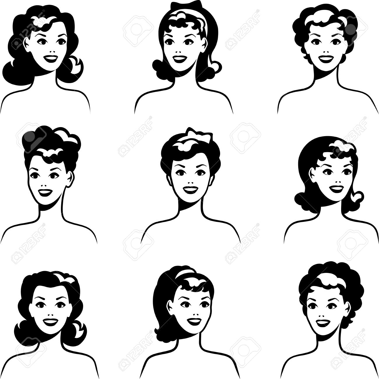 Pin up motorcycle line art jpg - Pin Up Collection Of Portraits Beautiful Pin Up Girls 1950s Style