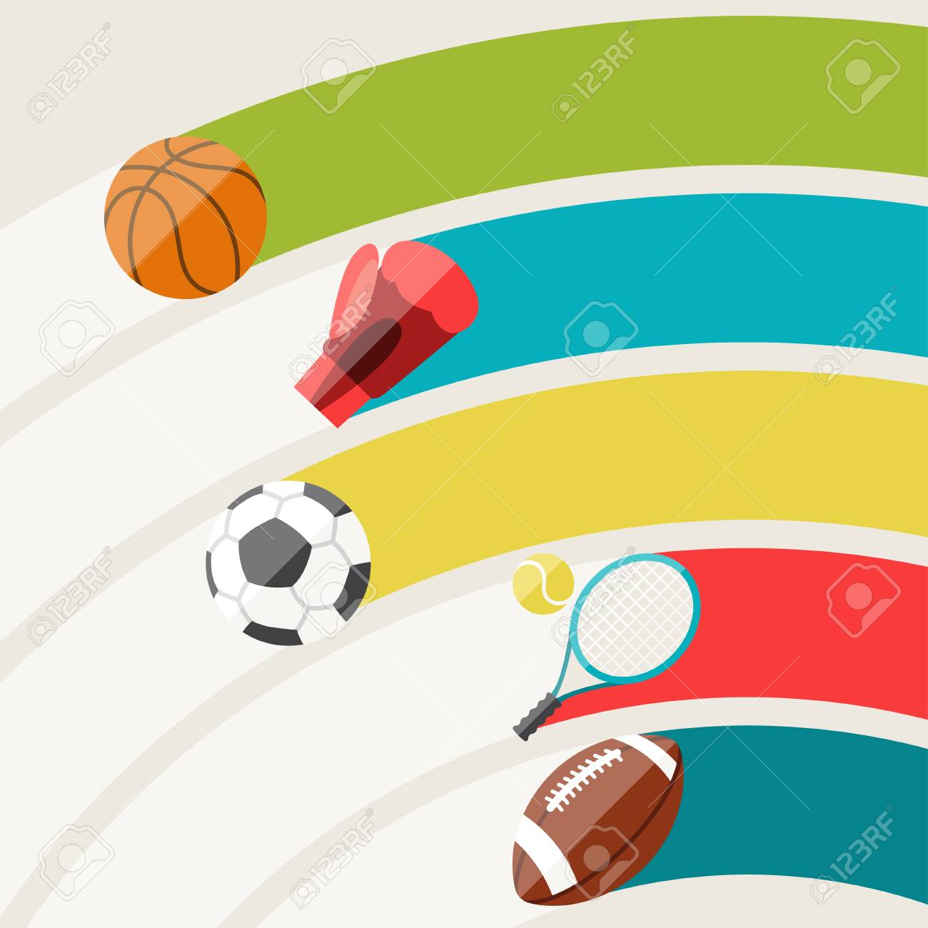 Abstract background with sport icons. Stock Vector - 25522964
