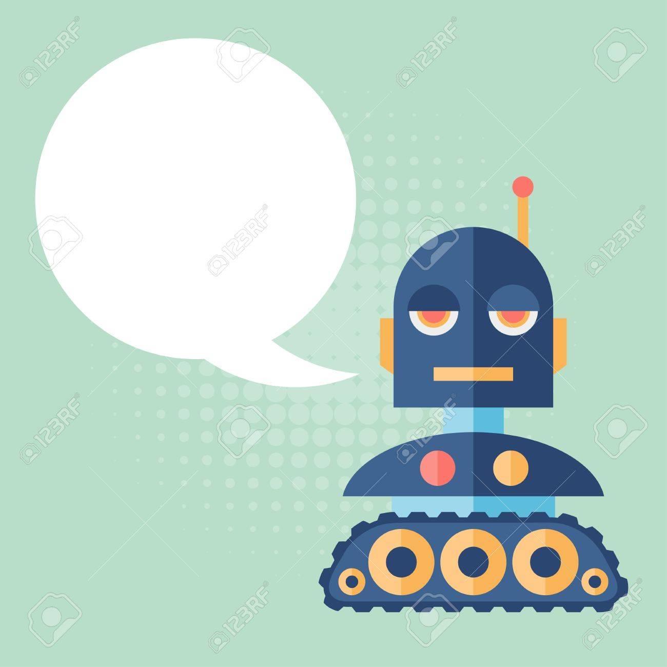 Design robot says something. Stock Vector - 26589516