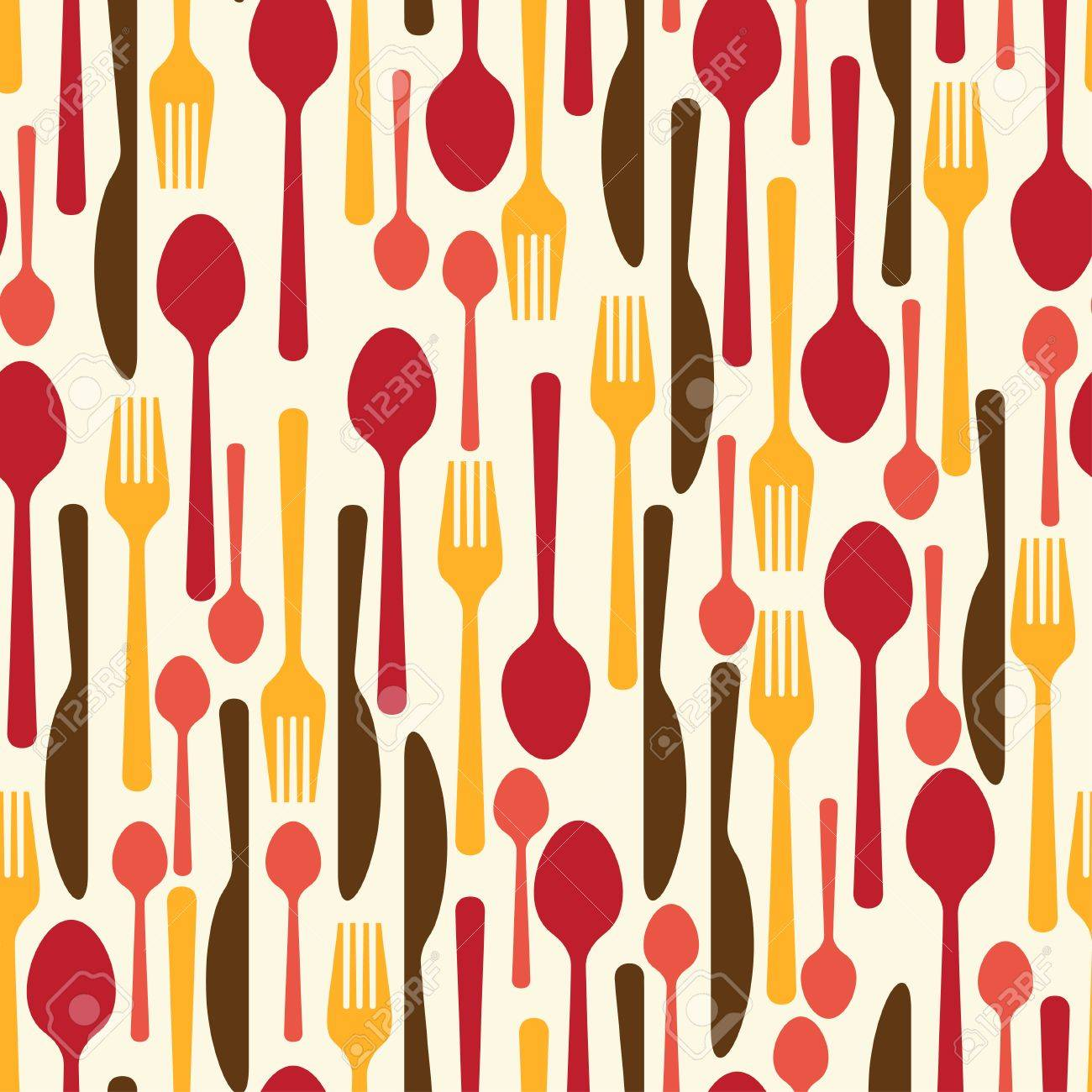 Restaurant Kitchen Utensils seamless pattern with restaurant and kitchen utensils royalty free
