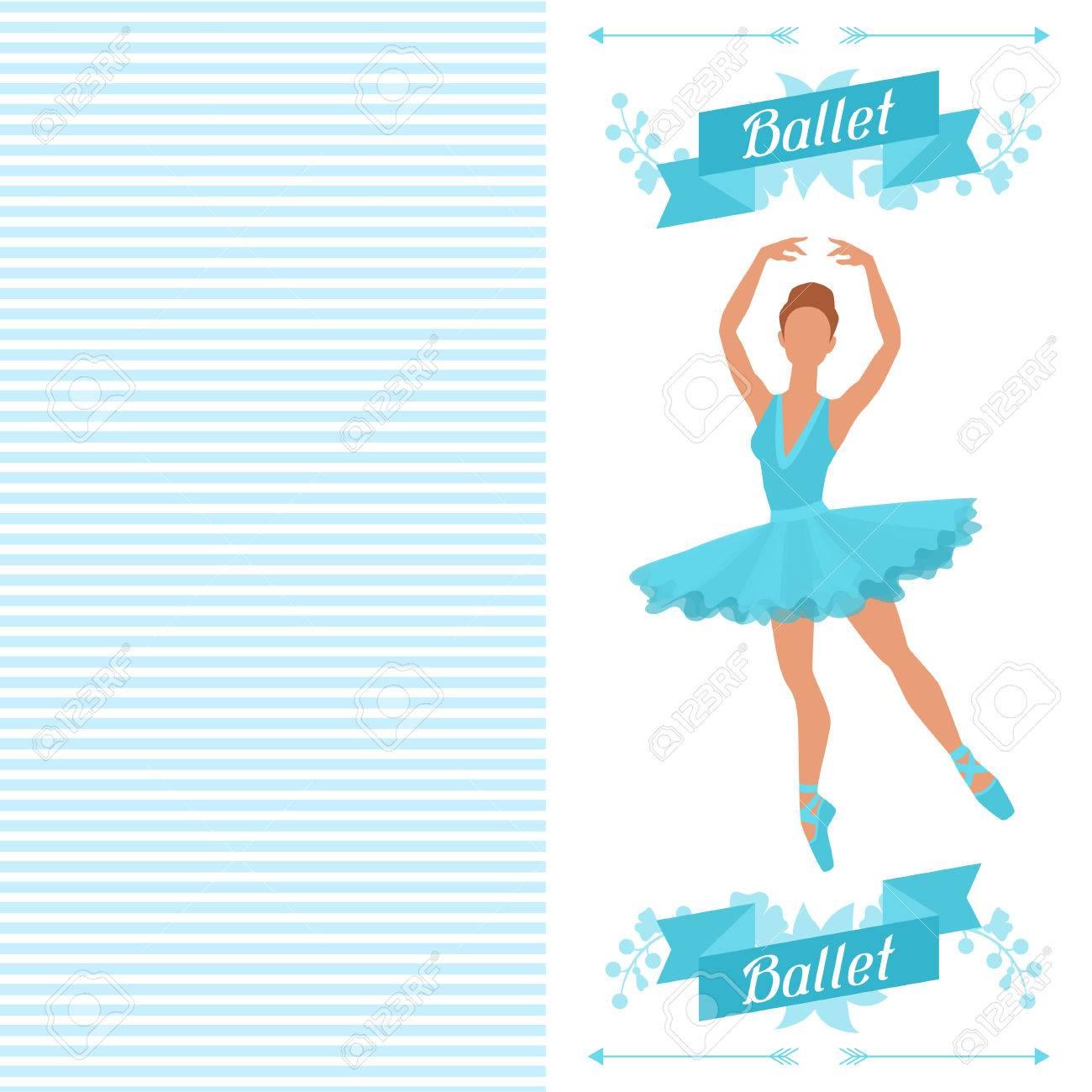Tarjeta De Invitación Al Espectáculo De Danza Del Ballet Con La Bailarina