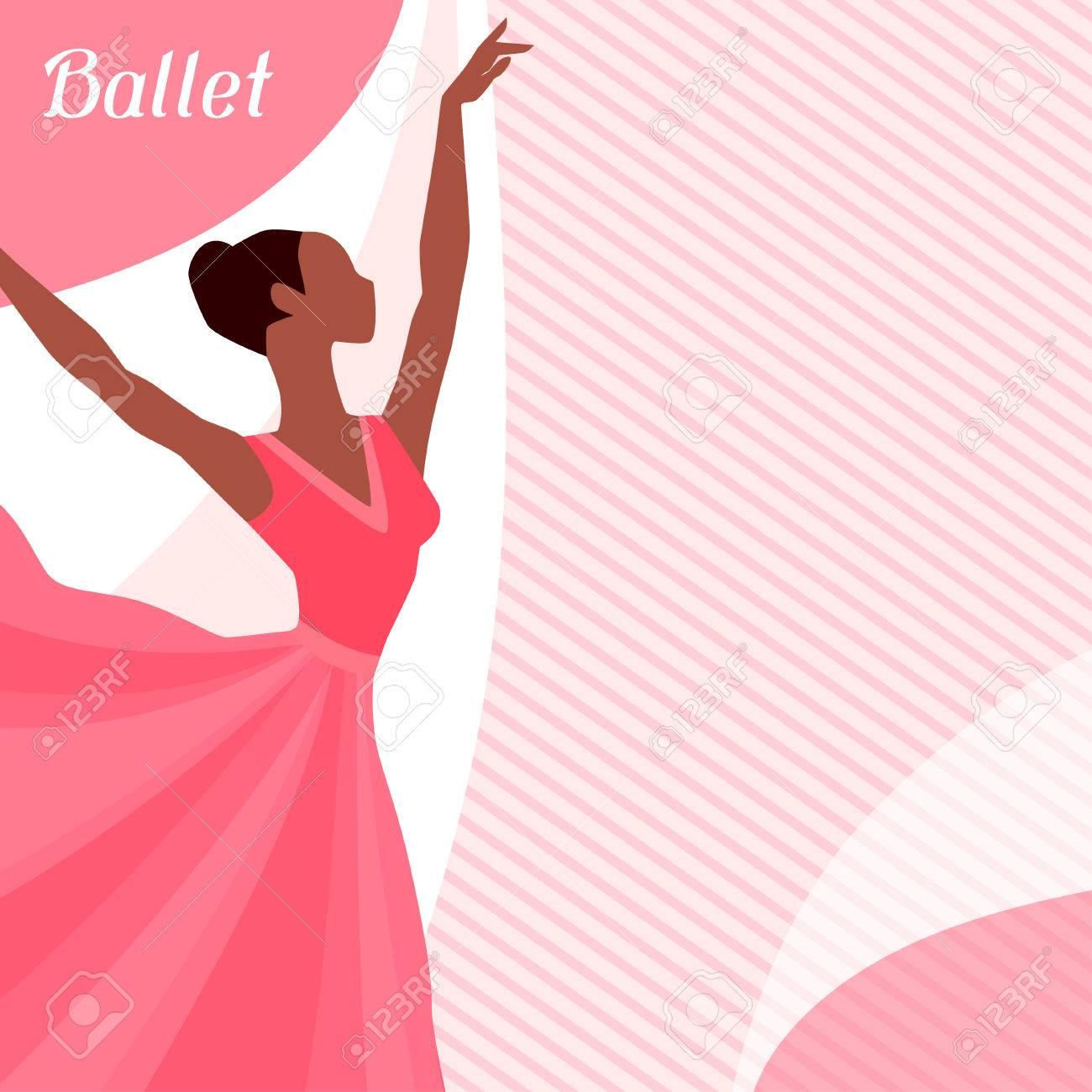 Tarjeta De Invitación Para Espectáculo De Danza Del Ballet Con La Bailarina