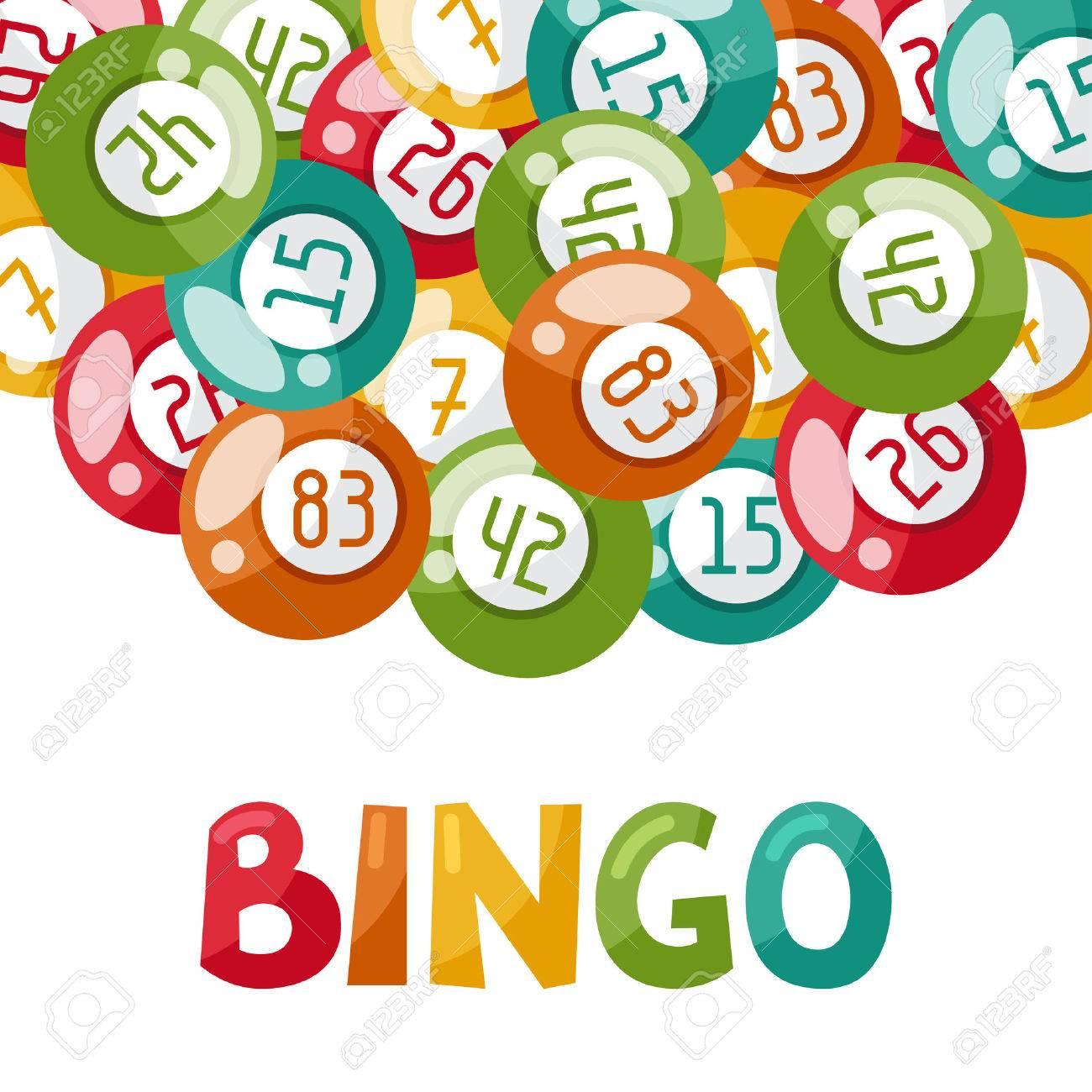 ボールのビンゴや宝くじのゲームのイラスト。 ロイヤリティフリー