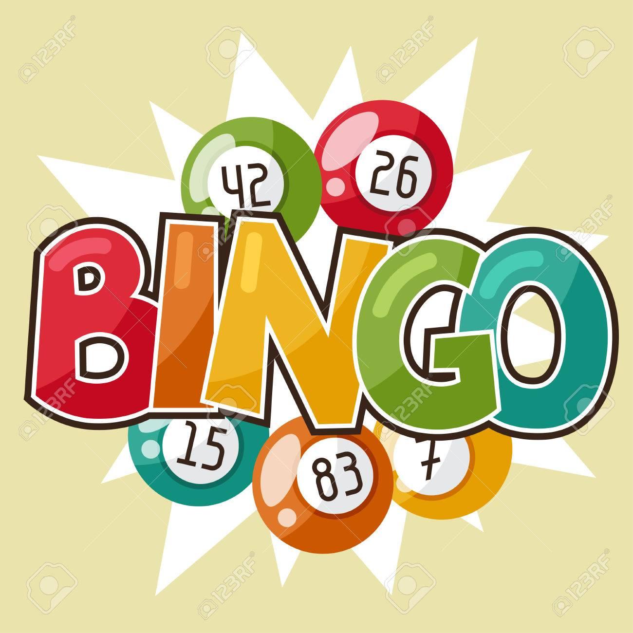 Bingo or lottery retro game illustration with balls. - 47864777