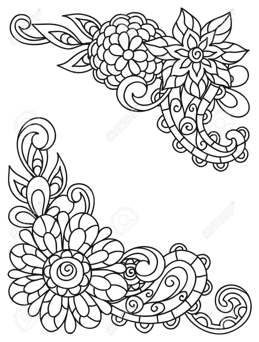 Flores Imprimir. Imprimir Dibujo De Flor Patchwork Para Colorear ...