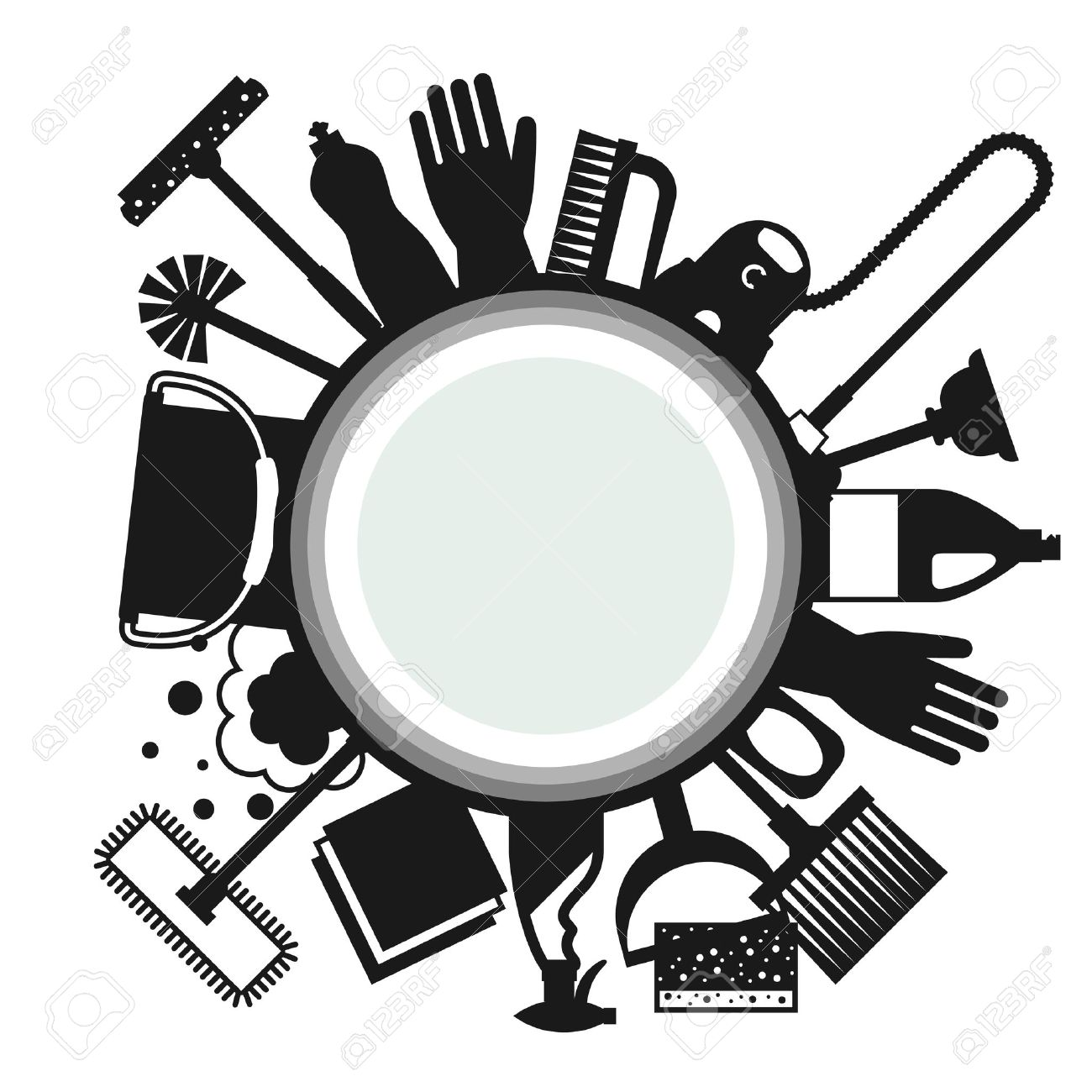 house mop cliparts stock vector and royalty house mop house mop housekeeping background cleaning icons image can be used on advertising booklets