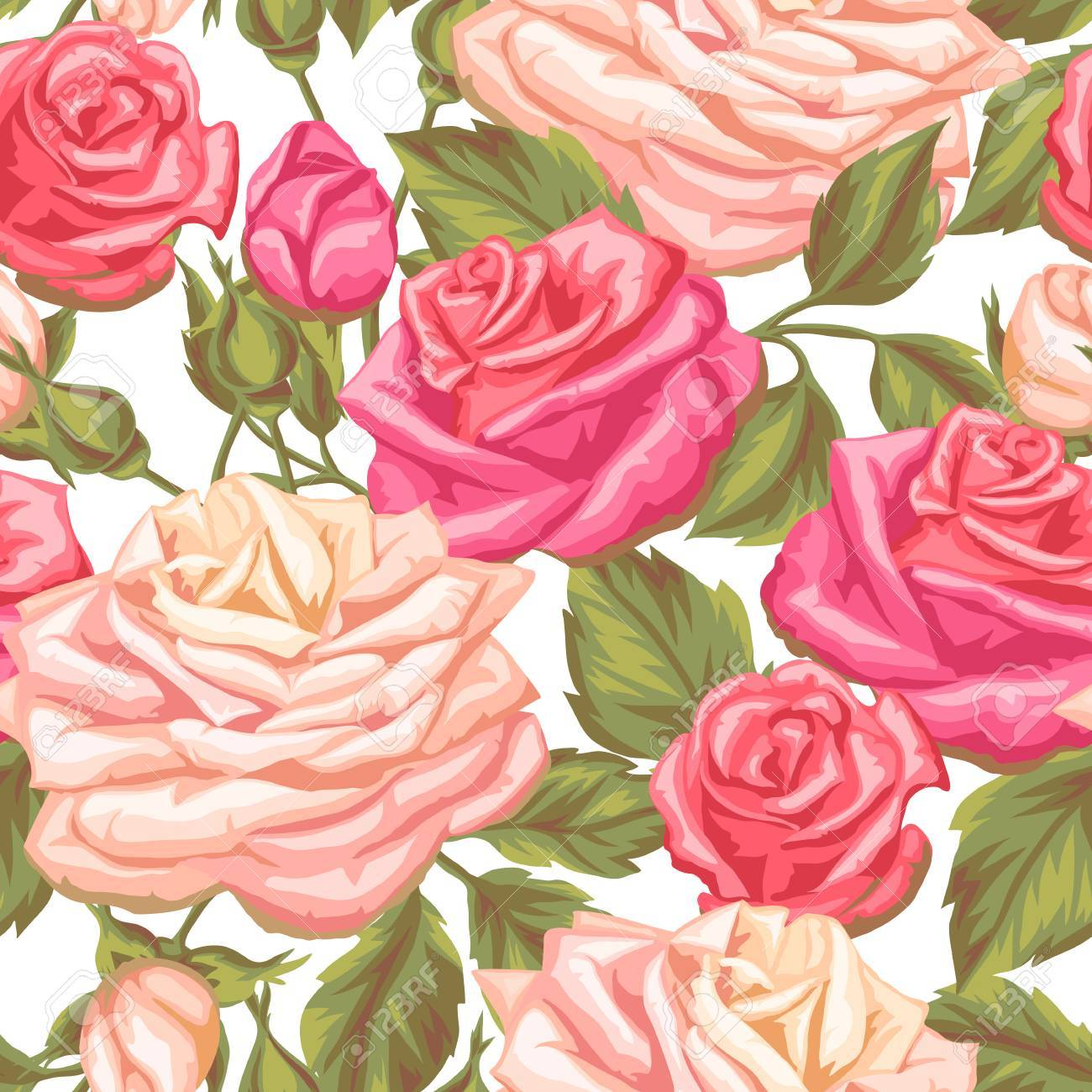 Seamless pattern with vintage roses decorative retro flowers seamless pattern with vintage roses decorative retro flowers easy to use for backdrop mightylinksfo