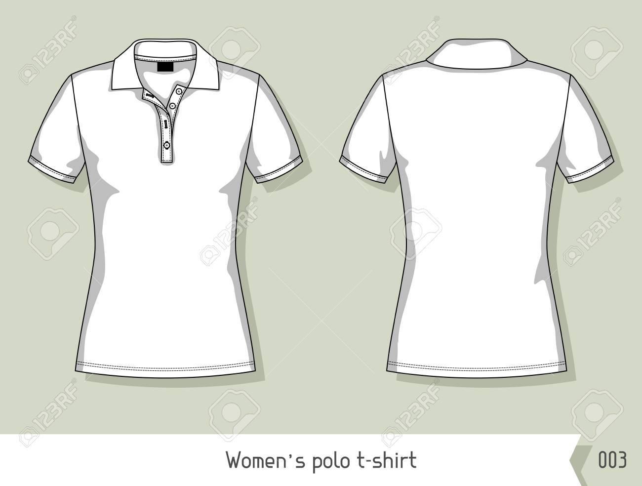 Design A Shirt Template | Frauen Polo T Shirt Vorlage Fur Das Design Leicht Bearbeitbaren
