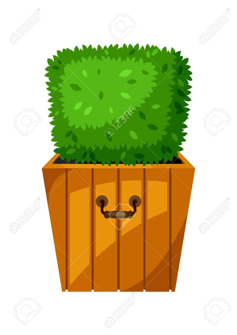 Boxwood Topiary Garden Plant Decorative Tree In Flowerpot Royalty Free Cliparts Vectors And Stock Illustration Image 74572267