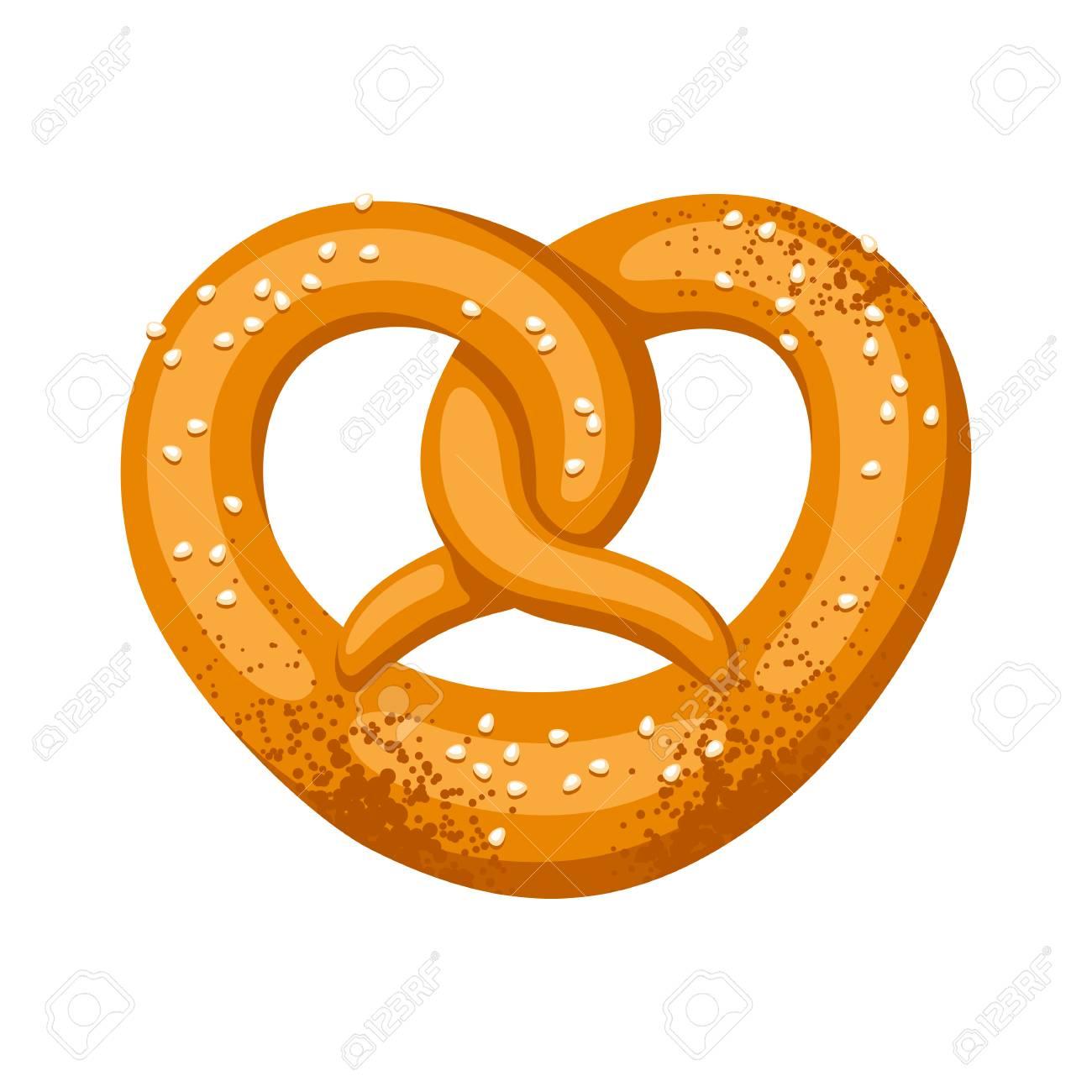 pretzel salt and soft illustration for oktoberfest royalty free