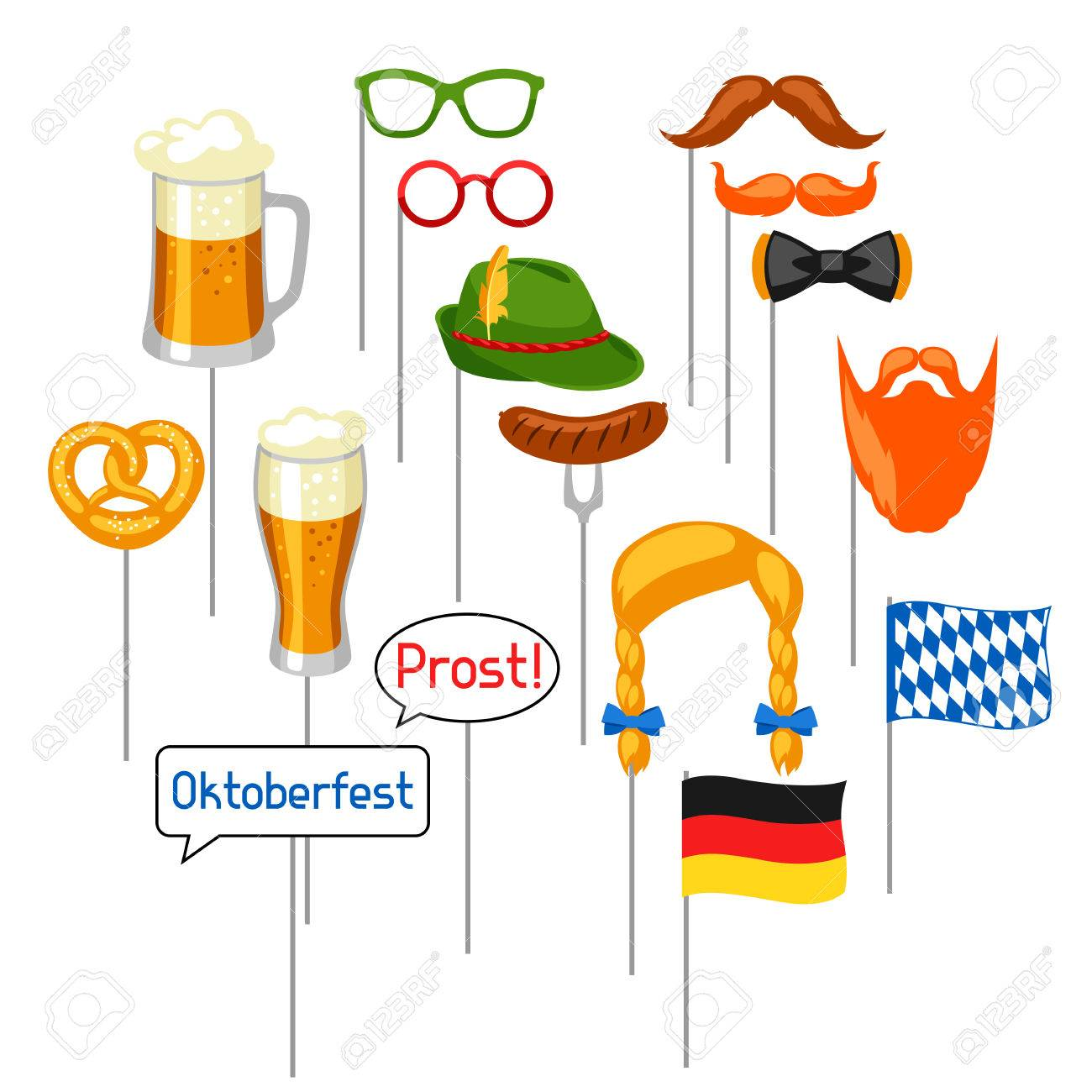 Set Of Oktoberfest Photo Booth Props Accessories For Festival