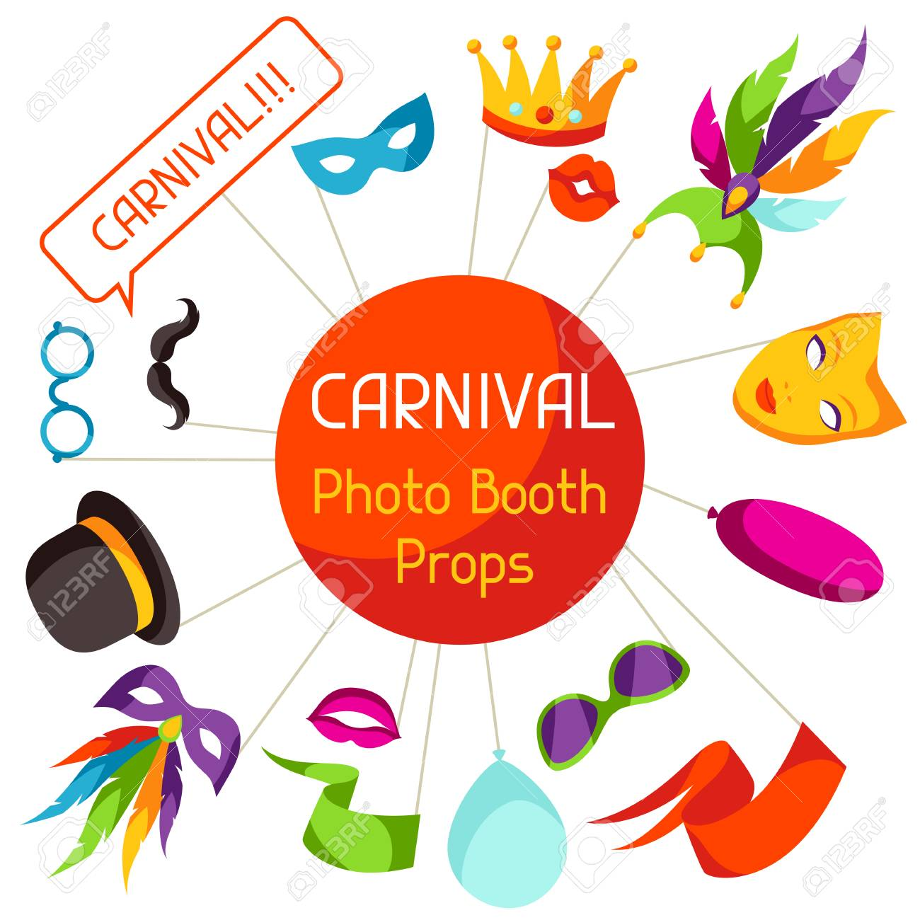 Carnival Photo Booth Props Accessories For Festival And Party