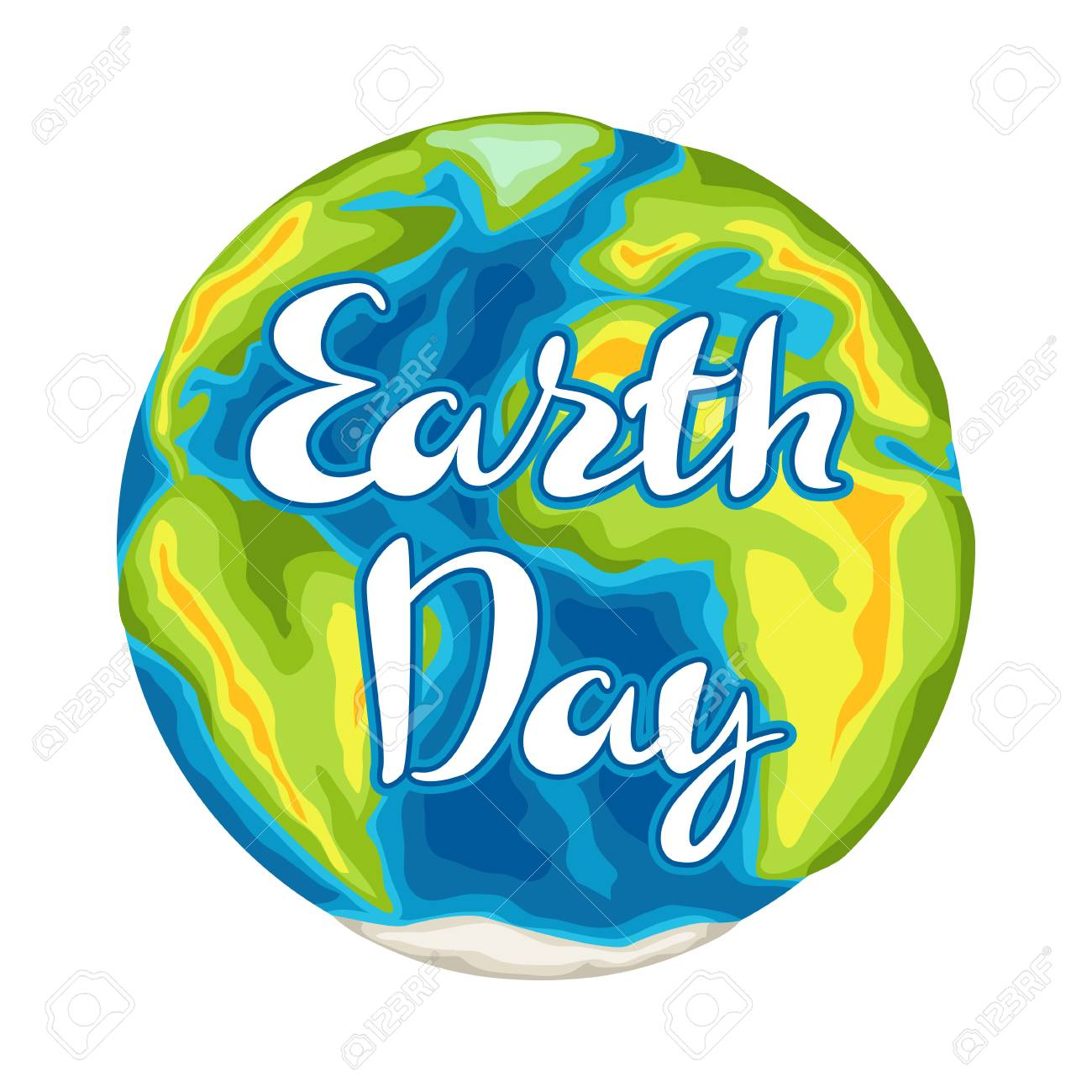 Happy Earth Day card. Illustration for environment safety celebration. - 121747860