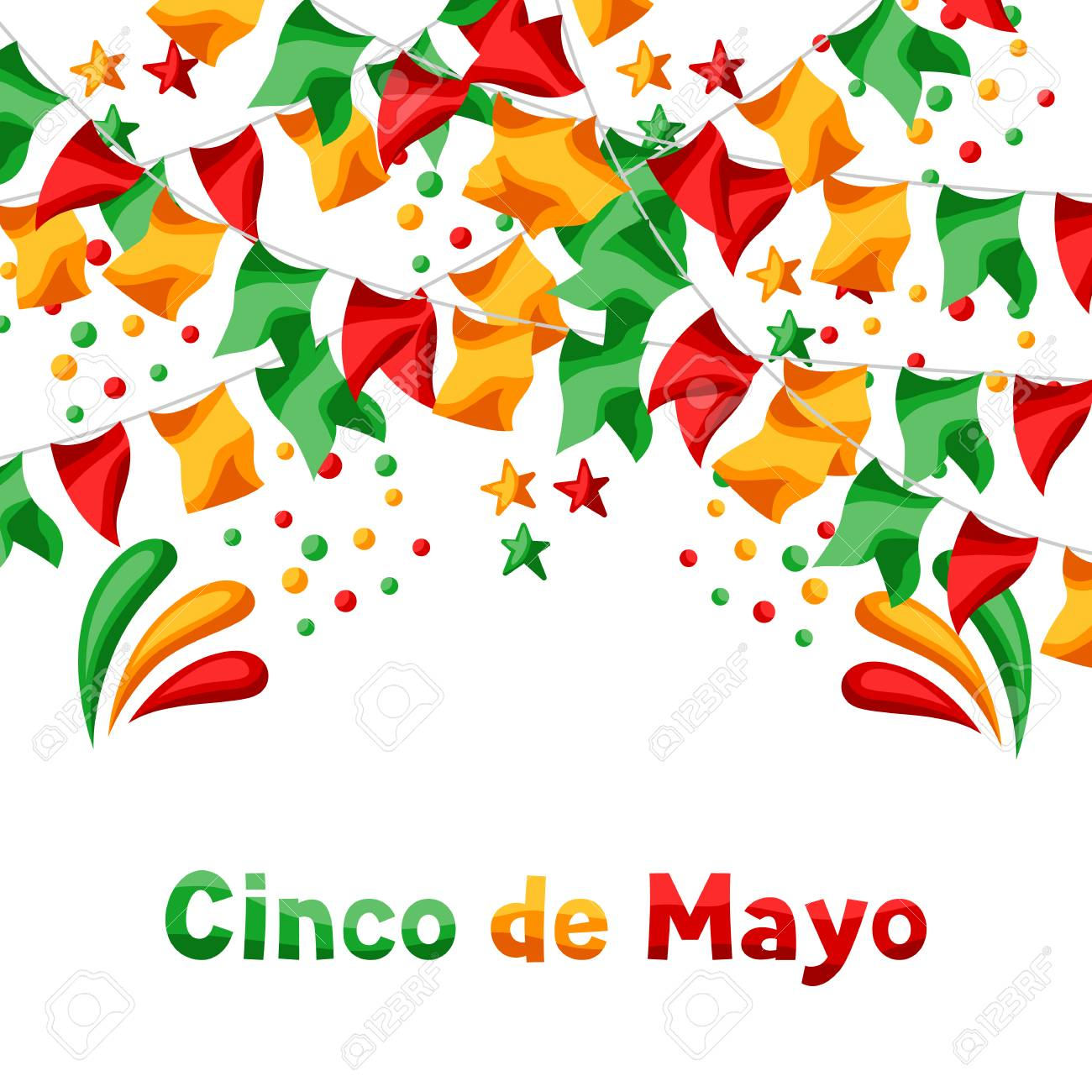 Mexican Cinco de Mayo greeting card  National holiday background