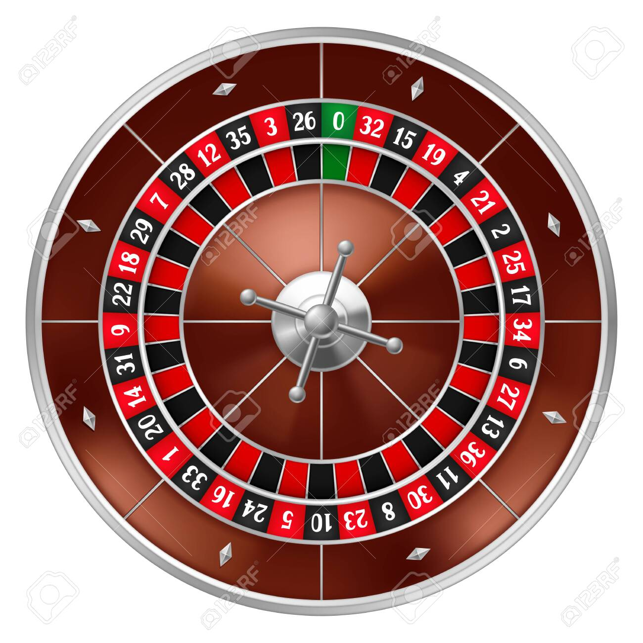 Realistic casino gambling roulette wheel. Equipment for the money games. - 145821923