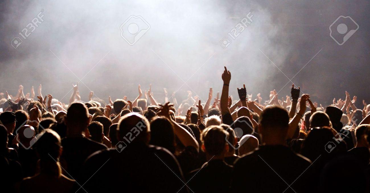 cheering concert crowd Stock Photo - 4363173