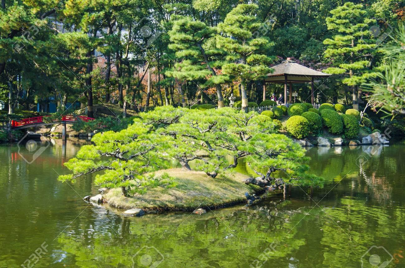 Jardin Japonais Shukkeien A Hiroshima Au Japon Banque D Images Et