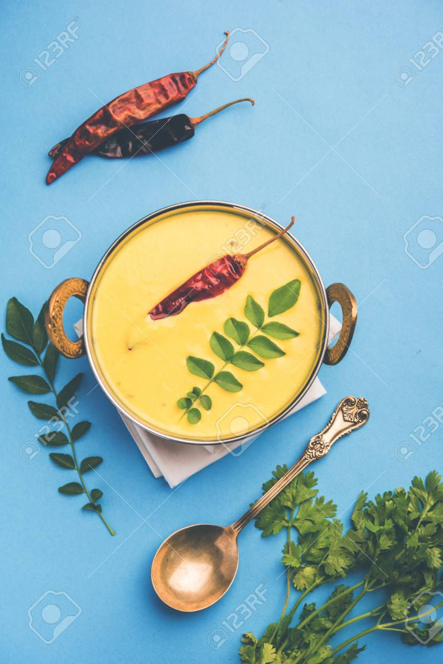 Indian Cuisine Kadhi - Vegetarian Curry Made Of Buttermilk And ...