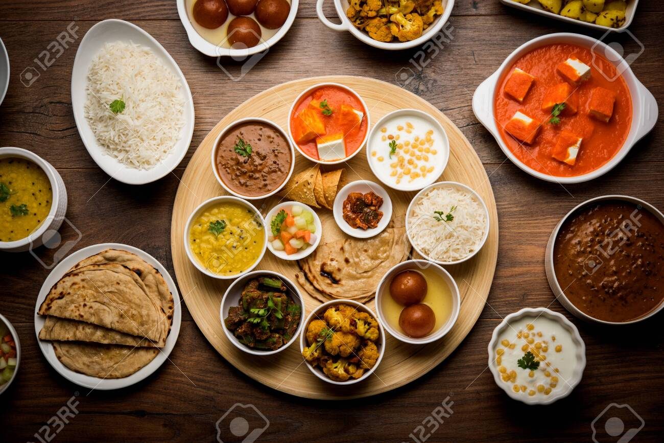 Indian Hindu Veg Thali Food Platter Selective Focus Stock Photo Picture And Royalty Free Image Image 125859545