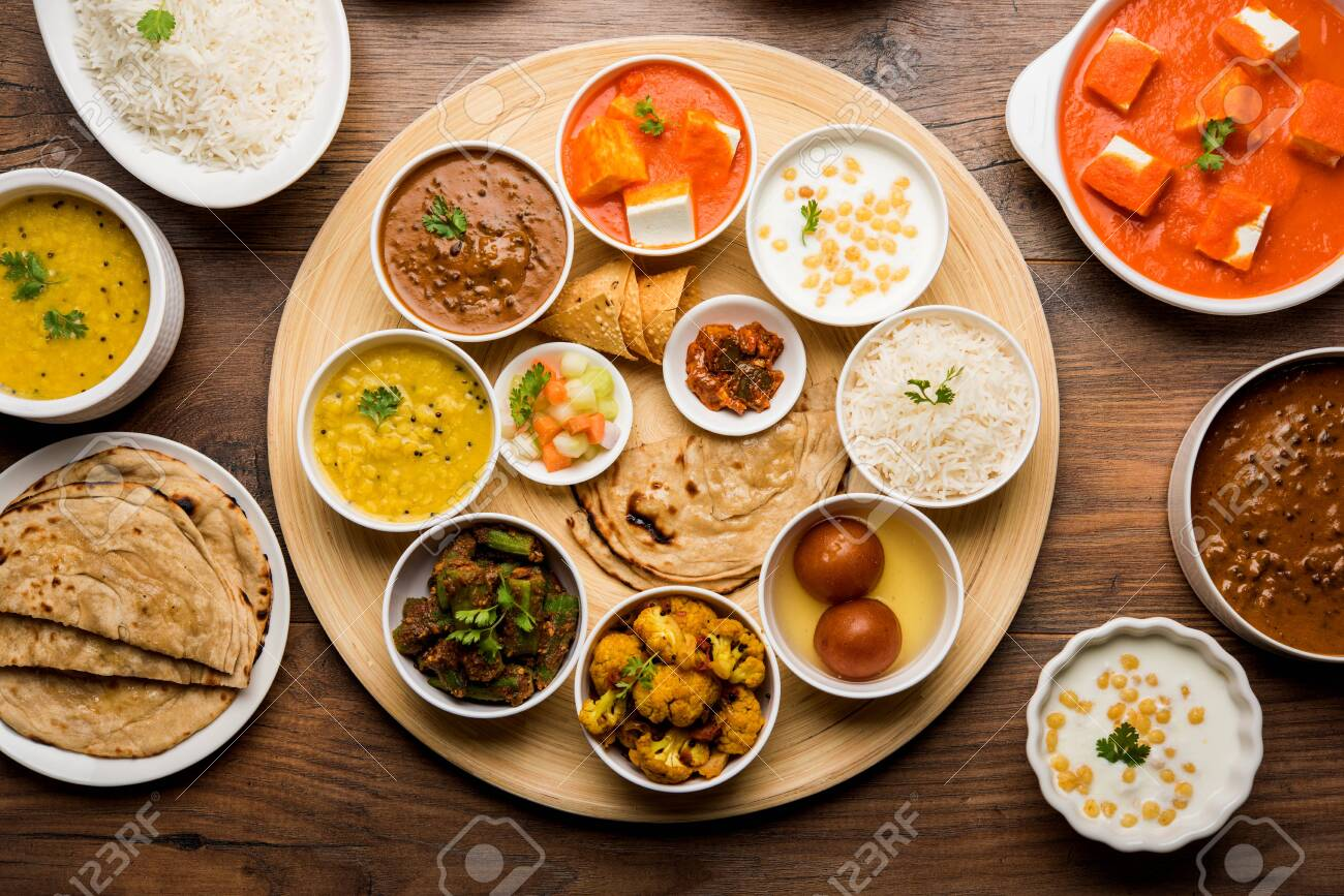 Indian Hindu Veg Thali Food Platter Selective Focus Stock Photo Picture And Royalty Free Image Image 125859514
