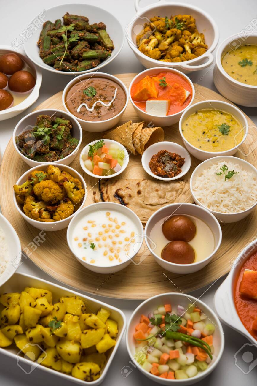 Indian Hindu Veg Thali Food Platter Selective Focus Stock Photo Picture And Royalty Free Image Image 125859619